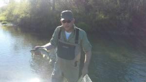 Dean Ferrillo catches a fish